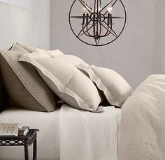 Vintage-Washed Belgian Linen Bedding Collection