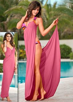 Wrap maxi dress Cover Up Swimsuit – Beachwear by Hot Styles by VENUS Beach Dresses, Summer Dresses, Summer Outfits, Outfit Strand, Diy Vetement, Diy Fashion, Womens Fashion, Beach Cover Ups, Bathing Suit Covers