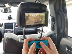 Printed in Eco-Friendly PLA material, this Nintendo Switch Car Headrest Travel Mount Holder is the perfect companion for road trips. Simply slide the Nintendo Switch tablet into the mount, slide the stopper pin into the groove and attach the mount to the back of the headrest or sun visor with the included velcro straps. Comes with two 30-inch velcro straps. Can be mounted using either the vertical or horizontal brackets depending on the size of your headrest. The stopper pin is attached to…