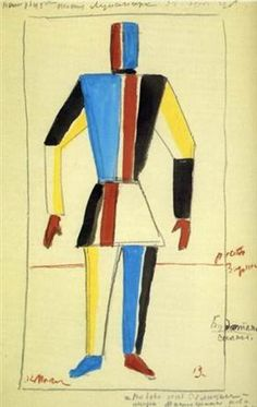 Costume for Victory over the Sun. Athlet of the Future - Kazimir Malevich
