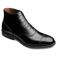Fifth Street Dress Boots, 7715 Black Leather, blockout