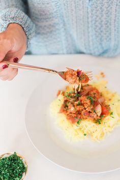 Beautiful & delicious spaghetti squash bolognese