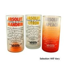 Absolut Vodka Bottle Tumblers!