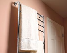 A plug-in electric towel warmer installs in minutes.