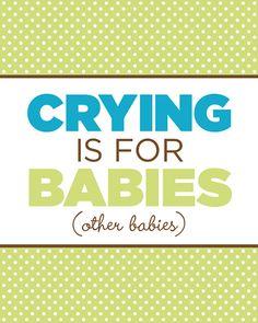 Cute print for a baby nursery!