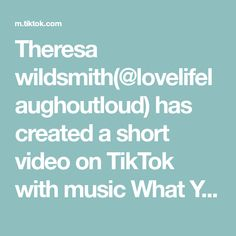 Theresa wildsmith(@lovelifelaughoutloud) has created a short video on TikTok with music What You Won't Do For Love.