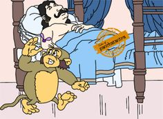The King And The Foolish Monkey - Panchatantra Story Picture