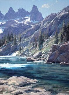 "MATT SMITH ~ ""Iceberg Lake"" (oil, 22x16)"