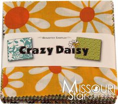 Crazy Daisy Charm Pack from Missouri Star Quilt Co  Love the colors and patterns - might have to save up for this!!!!