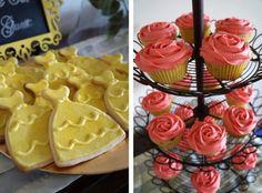 la bella y la bestia galletas y cupcakes