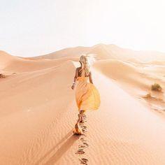 Hot & Classy even in the desert  Location: Sahara Desert, Morocco  Courtesy…