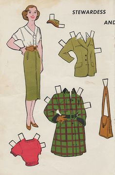stewardess paper doll | Flickr - Photo Sharing!