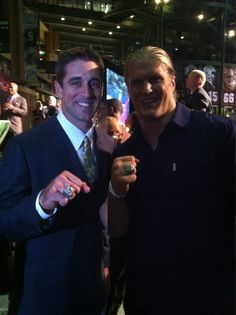 Rodgers and Matthews showing off some impressive bling. Let's add to the one you already have boys!