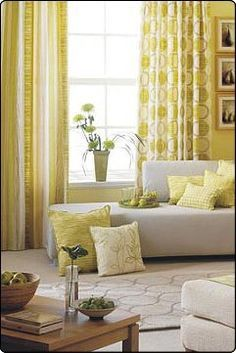 Create a luxurious and unique decoration for the kids' room with these yellow themed projects. Decor, Home, Brown Decor, Yellow Decor, Light Blue Living Room, Interior Design Living Room, Inspiring Spaces, Interior Design, Brown Living Room