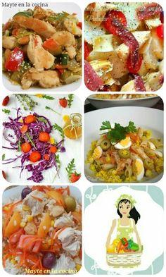 No te pierdas las sensacionales y variadas ensaladas que nos recomienda en este post la autora del blog MAYTE EN LA COCINA.