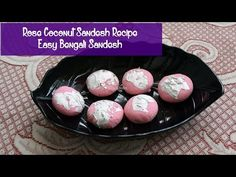 Traditional Bengali Rose Coconut Sandesh for Ganesh Chaturthi Prasad - try this quick and delicious Sandesh Recipe 🐀   #Sandesh #bengalisweets #ganeshchaturthi #prasad #mithai #bengalimithai