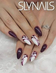 Purple Nail Art, Purple Nail Designs, Elegant Nail Designs, Green Nails, Acrylic Nail Designs, Nail Art Designs, Acrylic Nails, Crazy Nail Art, Pretty Nail Art