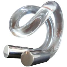 Vintage Pucci Lucite and Silver Cuff