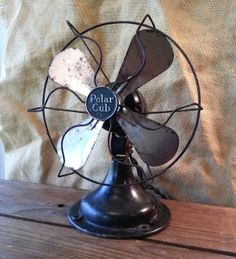 Working Antique A.C. Gilbert Polar Cub Electric Fan Circa 1920s