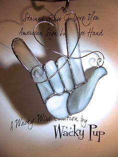 Love Like a Rock American Sign Language I Love You by WackyPup