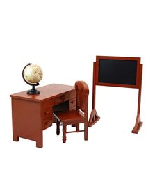 Love this Schoolteacher's Desk & Play Set for 18'' Doll on #zulily! #zulilyfinds