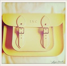 Lauren Conrad's yellow bag from Cambridge Satchel. #LaurenConrad