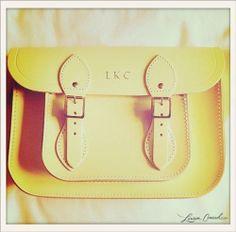 Lauren Conrad's yellow bag from Cambridge Satchel. #LaurenConrad
