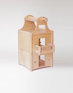 stackable contemporary wood dollhouse