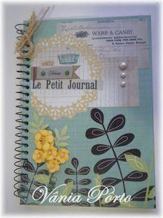 Caderno Artesanal - Um toque Vintage.