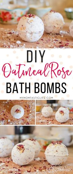 DIY Oatmeal Rose Bath Bombs