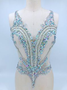 handmade sew on clear AB colour rhinestones applique on mesh crystals trim patches for dress DIY accessories Burlesque Costumes, Dance Costumes, Wedding Dress Bustle, Rhinestone Appliques, Figure Skating Dresses, Ballroom Dress, Sequin Fabric, Rhinestone Wedding, Event Dresses
