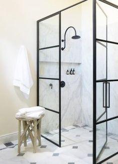 Cool 38 Luxury Black Shower Fixtures Ideas For Bathroom. Glass Shower Enclosures, Glass Shower Doors, Glass Showers, Glass Doors, Bad Inspiration, Bathroom Inspiration, Master Shower, Master Bathroom, Bathroom Black
