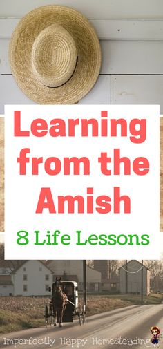 Learning from the Amish - 8 Life Lessons on family, food, faith and more! Not just for homesteaders preppers and those wanting to live a sustainable life.