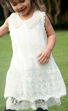 Perfect christening or flower girl dress for your toddler or little girl. Finely  detailed lace and beaded collar makes this an intricate delight. $119 www.littlewhitewardrobe.com.au