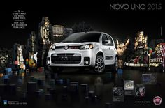 Fiat | Lançamento Novo Uno 2015 - Carla Cancellara Car Prints, Poster Prints, Posters, Advertising Campaign, Ads, Create Image, Fiat, Art Direction, Design Art