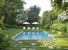 Pool perfection: http://www.stylemepretty.com/living/2015/06/19/30-outdoor-spaces-we-want-to-spend-all-summer-in/