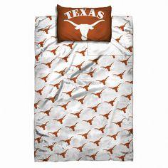 Texas Longhorns NCAA Twin Sheet Set