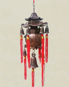Chi Energy Feng Shui 9 Bells Paa Wind Chime Wall Decor
