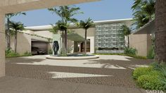 AE Emirates Hills: >A villa on the Emirates Hills Golf Estate overlooking a series of beautiful water features towards Dubai Marina. In Dubai, Dubai Houses, Golf Estate, Spring Landscape, Dream House Interior, Entrance Design, Green Life, Modern House Design, Studio