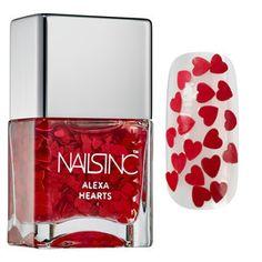NAILS INC. - Alexa Hearts Polish for Victoria Beckham's line of nail polish.
