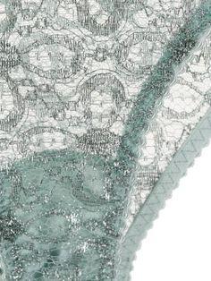Myla Rosemoor Street Briefs - Farfetch Comfortable Winter Outfits, Myla, Sheer Lingerie, Briefs, Floral Lace, Mint Green, City Photo, Street, Pattern