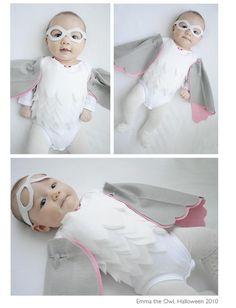 DIY Tutorial: DIY Baby Girls Halloween Costumes / DIY halloween costume Emma the Owl - Bead&Cord