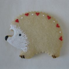 Hedgehog Valentine Cookie | Lightly Decorated | J. Tamara