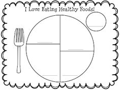 Create a #MyPlate placemat w/kids as a reminder to eat