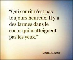 smile & tears in the eyes. French Words, French Quotes, Citations Stephen King, Jane Austen, Expression Populaire, How To Speak French, More Than Words, Tweet Quotes, Inspirational Quotes