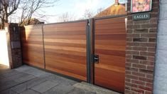 Wooden sliding gates in Surrey