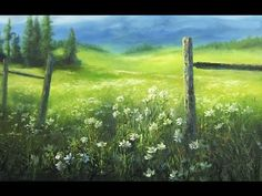 Flower Meadow   Paint with Kevin Hill art - YouTube
