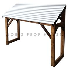 Corrugated Metal Awning w/Brown Structure Front Door Awning, Porch Awning, Diy Awning, Metal Awning, Porch Roof, Metal Roof, Shed Awning Ideas, Front Entry, Range Velo