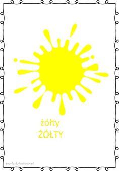 KOLORY – plansze zestaw 1 – Przedszkolankowo Learning Colors, Language, Education, Montessori, Origami, Asia, Kids, Mary, Young Children
