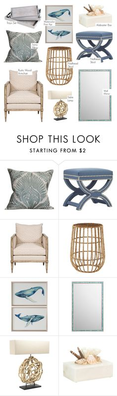 """""""Coastal Living"""" by kathykuohome ❤ liked on Polyvore featuring interior, interiors, interior design, home, home decor, interior decorating, WALL, Corson, Nautical and Coastal"""